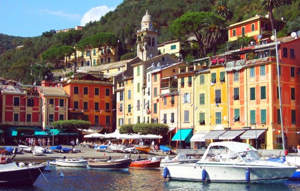 Ein Bilderbuch-Traum: der Hafen von Portofino. (Foto Katharina Büttel)