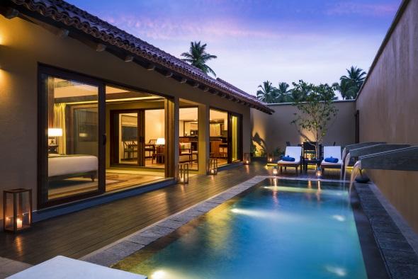 Die Pool-Villen des Anantara Kalutara Resort verfügen über eine eigenen, großzügigen Badebereich. (Foto Anantara Resorts)