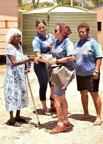 Besucher des Meeresschildkröten-Krankenhauses dürfen die Tiere auch mal in die Hand nehmen. (Foto TEQ)