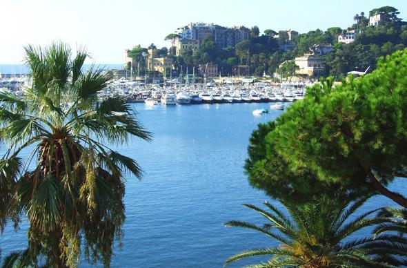 Der Hafen von Rapallo an der Ligurischen Riviera. (Foto Katharina Büttel)