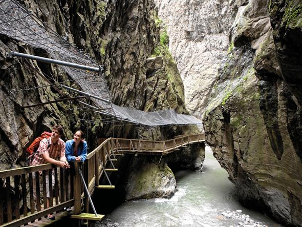 Überaus sehenswert: die Trient-Schlucht bei Vernayaz im Wallis. (Foto Thomas Andenmatten)