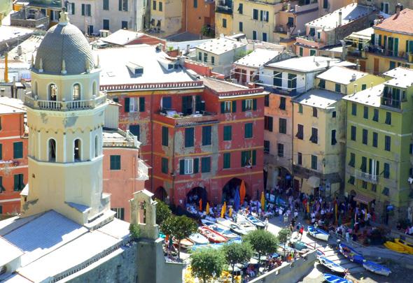 Vernazza - eins der Cinque Terre-Dörfer. (Foto Katharina Büttel)