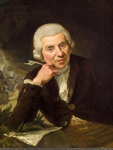 Der Halberstädter Dichter und Sammler Johann Wilhelm Ludwig Gleim, gemalt von Johann Heinrich Ramberg im Jahr 1789. (Foto: djd)