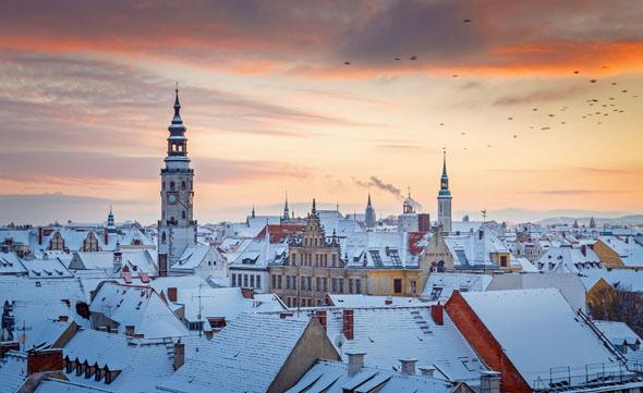 Görlitz zeigt sich in der kalten Jahreszeit von seiner stimmungsvollen Seite. (Foto: N. Schmidt)