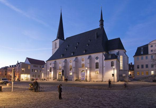 In der Stadtkirche St. Peter und Paul am Herderplatz in Weimar predigte Luther. (Foto: Maik Schuck)