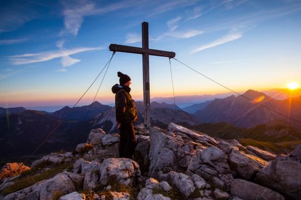 Herbstlicher Gipfelstürmer im Fürstentum Liechtenstein. (Foto Liechtenstein Tourismus=