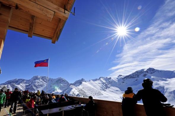 Herrliche An- und Aussichten genießen Wintersportler in und um Malbun. (Foto Liechtenstein Marketing)