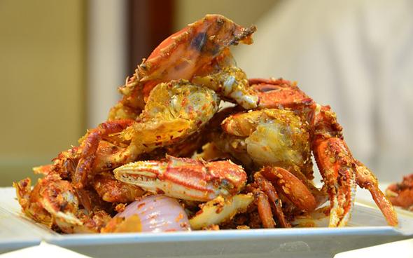 Krabben und Meeresfrüchte erfreuen sich in diesem Teil der Karibik großer Beliebtheit.
