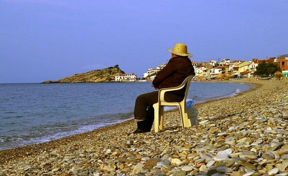 Auch und gerade im herbst sind die Strände auf Samos nicht ohne Reiz.