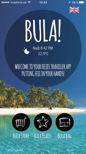 Die neue App für die Fodschi-Insel ist übersichtlich und intuitiv zu bedienen.
