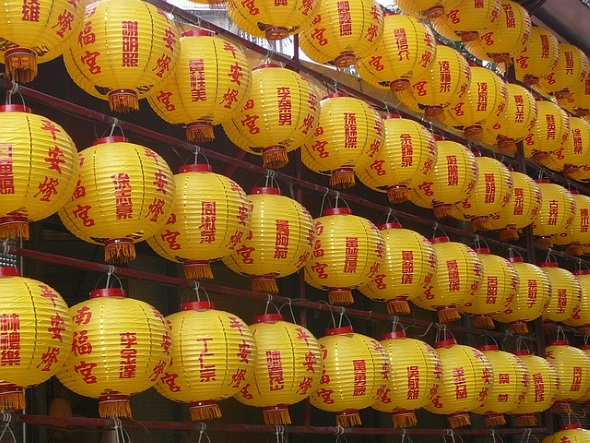 Teil der chinesisch geprägten Tradition sind auch die stimmungsvollen Laternen.