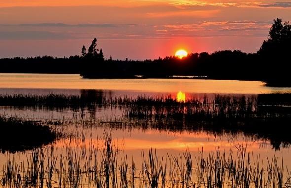 Während des Sonnenuntergangs ist das Farbenspiel in Québec noch faszinierender.
