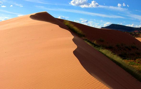 Eine bizarre und faszinierende Sandlandschaft: die Coral Pink Sand Dunes.