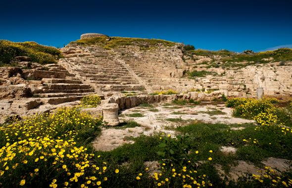 Überaus prächtig ist das hellenistische Amphietheater. (Foto Cyprus Tourism Organisation)