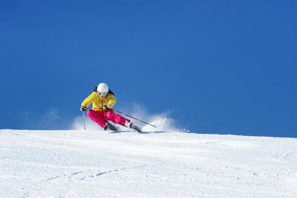 Nur selten herrscht in dem weitläufigen Skigebiet drangvolle Enge. (Foto Christian Schartner)