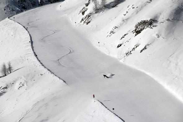 Wer möchte, kann sich beim Skifahren filmen und fotografieren lassen. (Foto Zauchensee)
