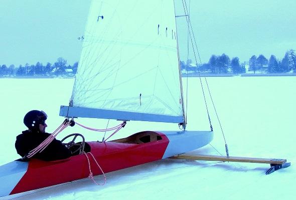 Wenn der Wind passt, sind in Masuren die Eissegler von Gizycko nicht zu halten. (Foto Katharina Büttel)