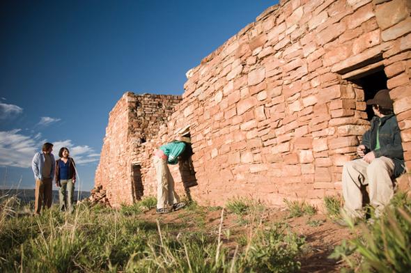 An verschiedenen Stellen in Arizona zeigt sich, welch große Bauherren die Indianer waren.