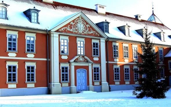 Im Herzen Ermlands - das prachtvolle Gebäude gehört zum Hotel-Burgensemble Krasicki in Lidzbark Warminski. (Foto Katharina Büttel)