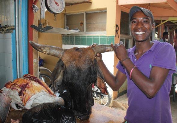 Fleischhändler haben eine etwas andere Vorstellung, wie ihre Ware präsentiert wird. (Foto Karsten-Thilo Raab)