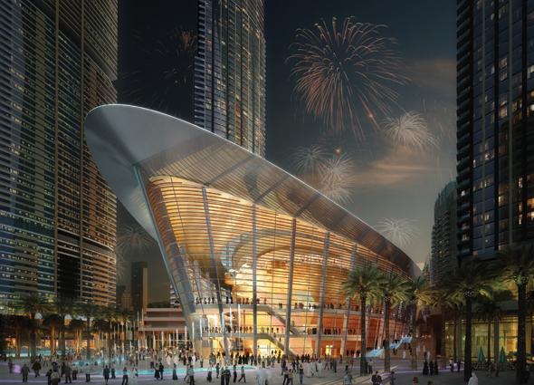 Auch die neu eröffnete Oper lässt mit dem Nussknacker Weihnachtsstimmung aufkommen.
