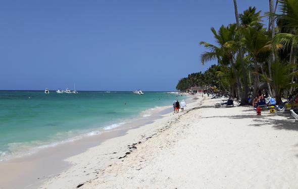 Ohne Frage ist die Playa de Bavaro ein Stück Bildbuch-Karibik. (Foto Karsten-Thilo Raab)