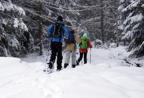 Herrlich entspannt sind auch Schneeschuhwanderungen im Riesengebigre. (Foto Klaus Klöppel)