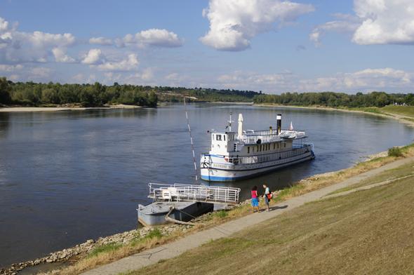 Auch mit dem Ausflugsboot lässt sich der Charme der Weichsel im wahrsten Sinne des Wortes erfahren. (Foto Klaus Klöppel)