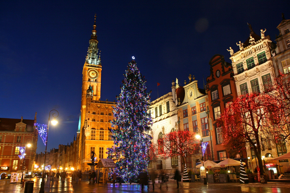 Danzig als stimmungsvoller Weihnachtstraum. (Foto Maciek Nicgorski)