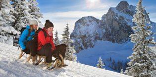 Auf der längsten Naturrodelbahn im Allgäu werden selbst die Großen wieder zu kleinen Winterkindern