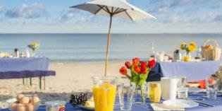 Strandfrühstück an der schleswig-holsteinischen Ostseeküste