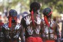 Aboriginesbegehen das Laura Dance Festival