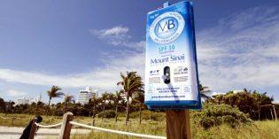 Weiter kostenlose Sonnencreme in Miami Beach