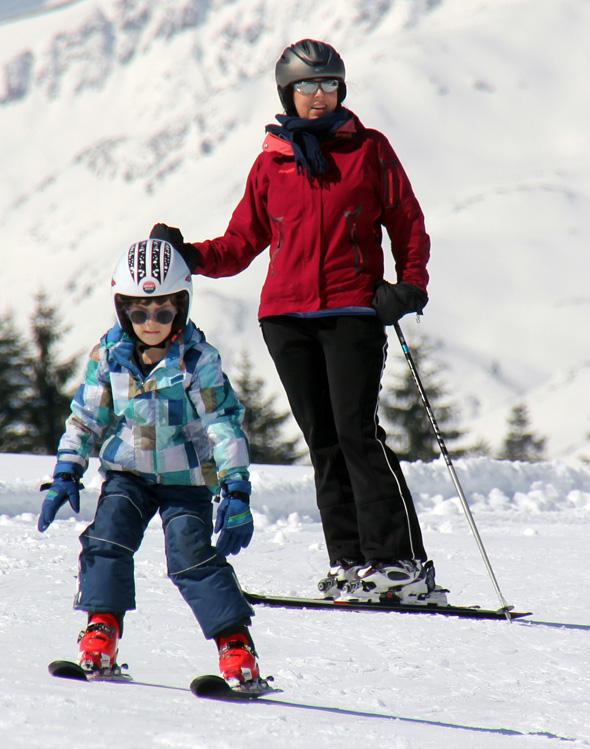 Gerade Skianfänger finden in Malbun ideale Bedingungen vor. (Foto Karsten-Thilo Raab)