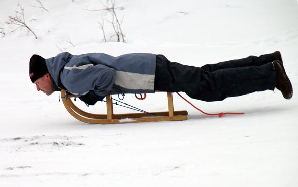 Schlittenfahrer stehen zwei 1.000 Meter lange Rodelbahnen zur Verfügung. (Foto Karsten-Thilo Raab)