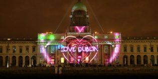 Dublin leuchtet das Jahr 2018 spektakulär ein