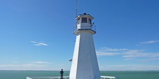 Leuchtturm ohne Meer: Cochin Lighthouse in Saskatchewan