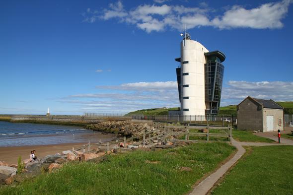 Der fünf Kilometer lange Aberdeen Beach geht in den Hafen der Stadt über. (Foto Karsten-Thilo Raab)