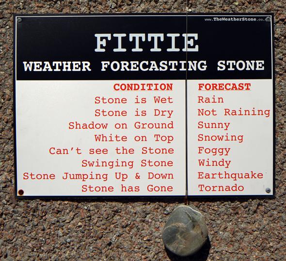 Humorvolle Wetterstation in Footdee. (Foto Karsten-Thilo Raab)