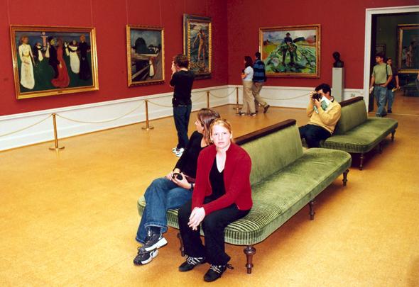 Die Nationalgalerie zeigt auch einige Werke von Edvard Munch.(Foto Karsten-Thilo Raab)