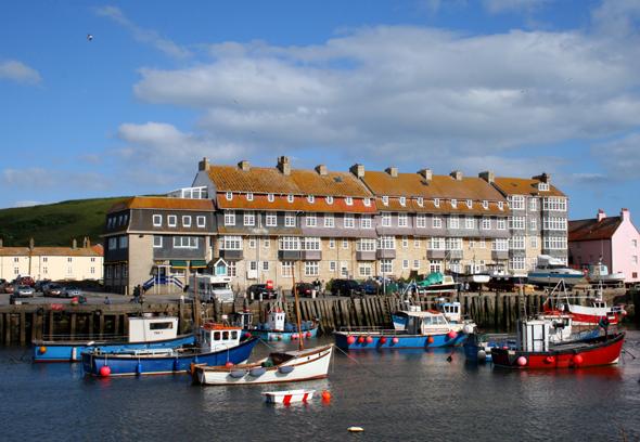 West Bay verfügt über einen kleinen, gezeitenabhängigen Hafen. (Foto Karsten-Thilo Raab)