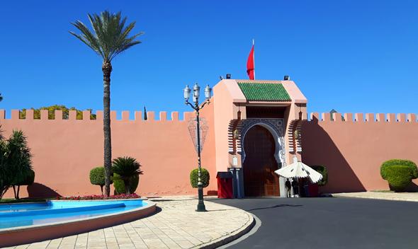 Der königlicher Palast ist für die Öffentlichkeit nicht zugänglich. (Foto Karsten-Thilo Raab)