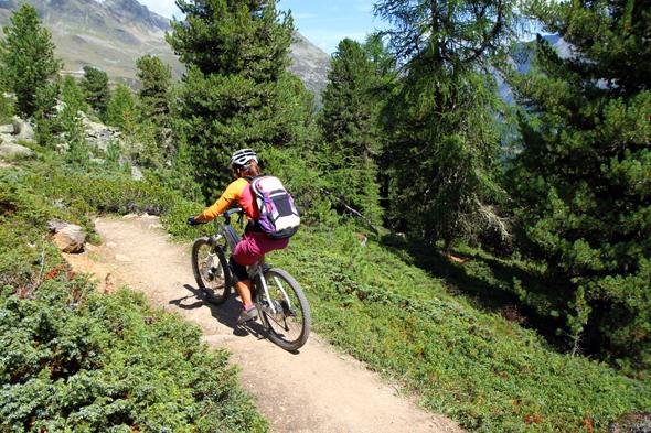 Auf acht gebauten Lines und 18 Natur-Trails können sich die Bike-Bürger aktuell in der Bike Republic Sölden austoben. (Foto Karsten-Thilo Raab)