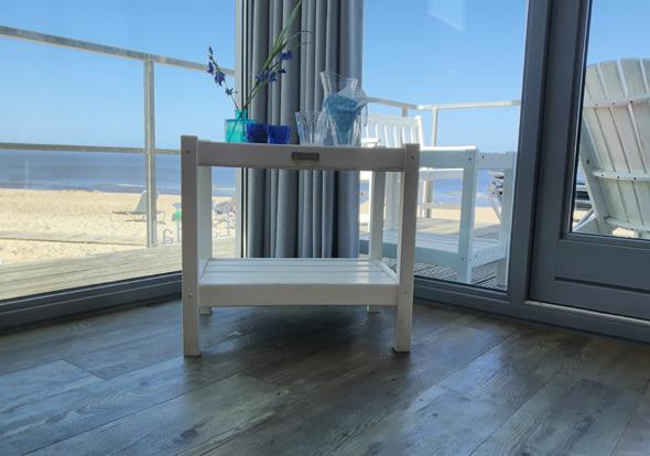 Auf 45 Quadratmetern findet sich eine perfelte Strandhausidylle mit Aussicht. (Foto Karsten-Thilo Raab)
