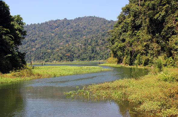 Banding-Stausee ist Teil des riesigen Royal Belum Rainforest in Malaysia. (Foto Karsten-Thilo Raab)