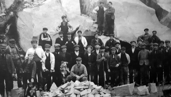 Blick in die Steinbruch-Vergangenheit im Heritage Centre in Nant Gwrtheyrn