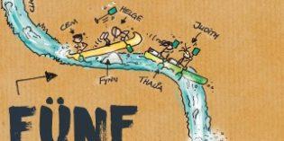 Spritziger Jugendroman: Fünf paddelnde Feinde