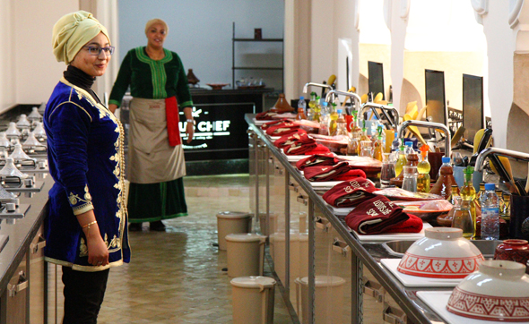 Modern ausgestattet ist die Lotius School of Cooking im herzen von Marrakesch. (Foto Karsten-Thilo Raab)