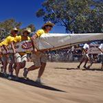Kuriose Henley-on-Todd Regatta in Alice Springs: Bootsrennen auf dem Trockenen