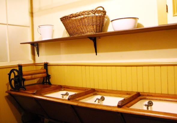 Für die damalige Zeit besaß das Winchester Mystery House eine hypermoderne Waschküche. (Foto Karsten-Thilo Raab)